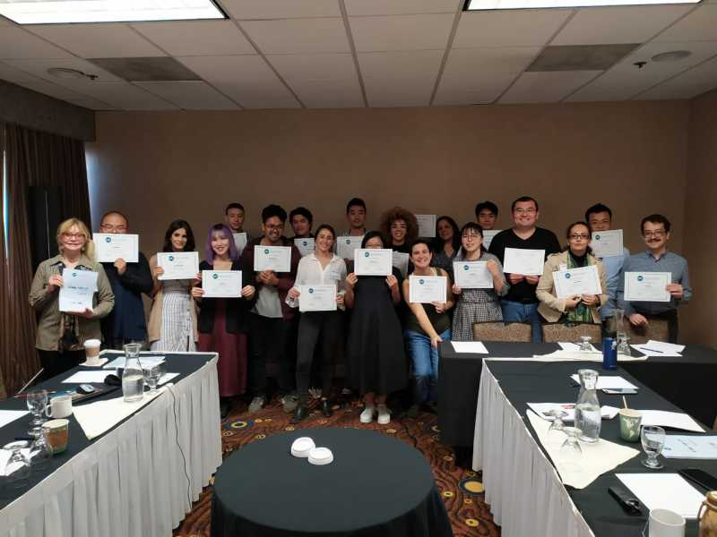 LATC Group with the Certificate of Participation