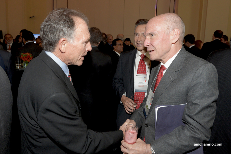 Shaking hands with the new US Ambassador Michael McKinley